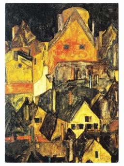Krumau bei Nacht 1911